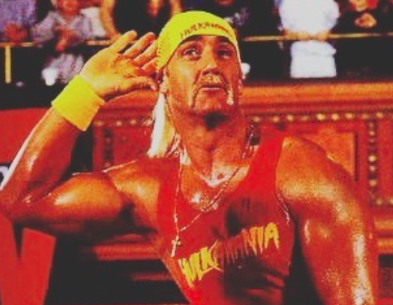 Hulk hogan with his wwe gimmick