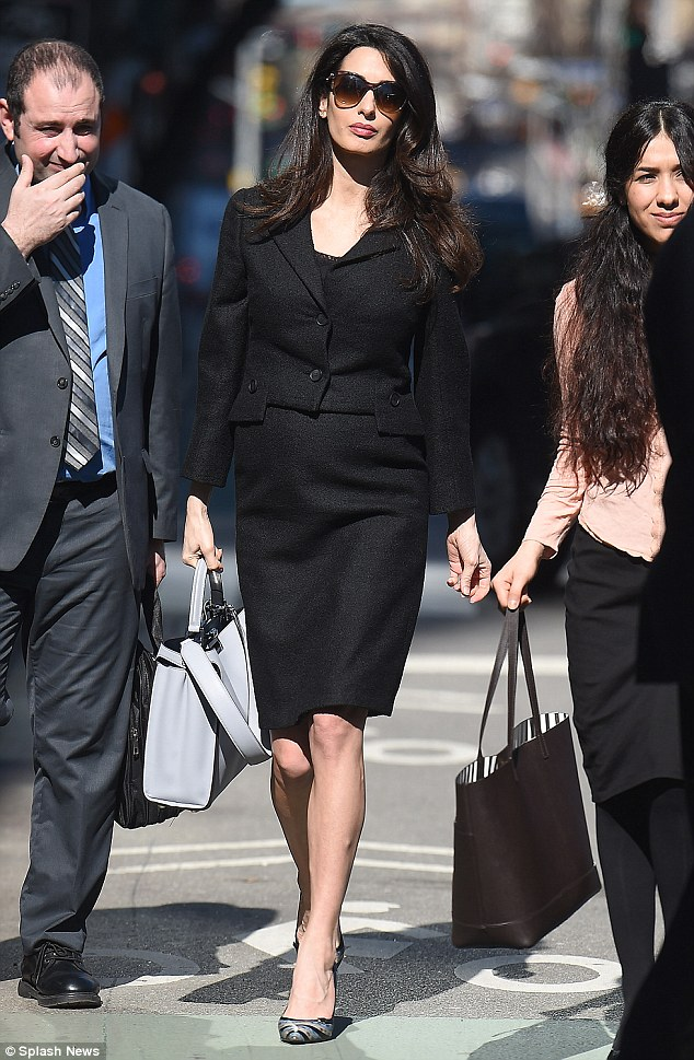 amalclooney in corporate dress